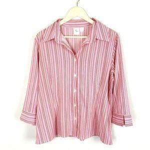 (A2-10) Apt 9 XL Pink Blouse Button Down